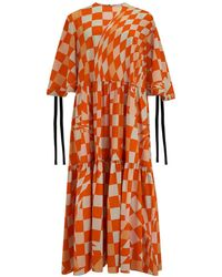 Klements Eidothea Dress In Labrynth Print - Multicolour