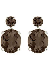 Augustine Jewels Smoky Quartz Drop Earrings - Brown