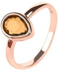 LÁTELITA London - Pisa Mini Teardrop Ring Rosegold Smokey Quartz Hydro - Lyst