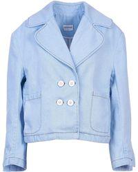 Acephala - Double-breasted Denim Jacket - Lyst