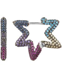 LÁTELITA London Star Single Multi Coloured Earring - Multicolour