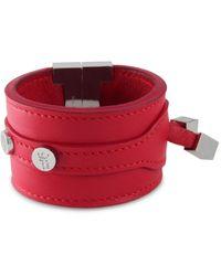 Tissuville Solo Bracelet Red Silver