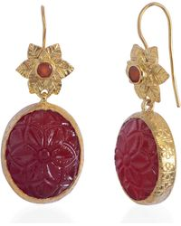 Emma Chapman Jewels - Bodhi Carnelian Earrings - Lyst