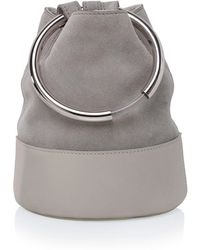 Arran Frances - Texa Pale Grey Bucket Bag - Lyst