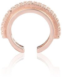 Astrid & Miyu - Fitzgerald Circle 2.0 Ear Cuff In Gold - Lyst