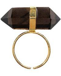 Tiana Jewel - Goddess Bi-terminated Smokey Quartz Ring - Lyst