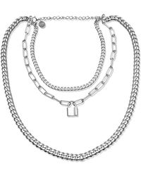 Opes Robur - Silver Triple Layer Chain - Lyst