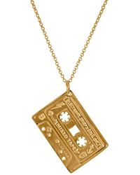 Edge Only Mixed Tape Pendant In Gold - Metallic