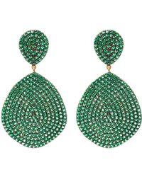 LÁTELITA London - Monte Carlo Earring Gold Emerald Zircon - Lyst
