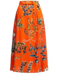 TOMCSANYI Compo Wrap Skirt - Red