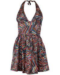 blonde gone rogue Beach Dress In Multicolor