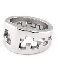 Tissuville Icebreaker Ring Silver Shiny Men - Metallic
