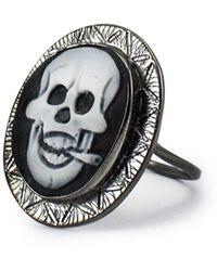 Vintouch Italy - Rocker Skull Cameo Ring - Lyst