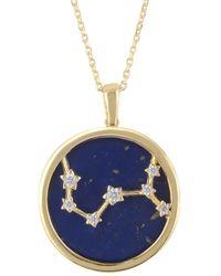 LÁTELITA London Zodiac Lapis Lazuli Gemstone Star Constellation Pendant Necklace Gold Scorpio - Metallic