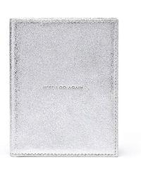 Thacker NYC - Globetrotter Passport Case Vintage Silver - Lyst