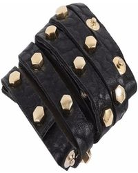 STYLESTRING Multi Functional Accessory Pyramid Stud Gold On Black