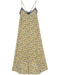 Emin & Paul Yellow-print Strappy Dress