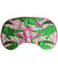 Jessica Russell Flint C For Crocodile Silk Eye Mask - Green