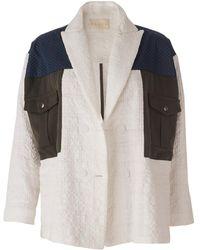 DANEH Oversize Block Jacket - Multicolour