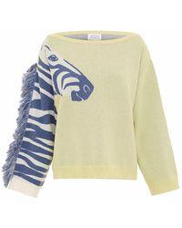 Hayley Menzies Zizzi Zebra Yellow - Multicolour