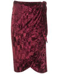 Roses Are Red Isabella Velvet Skirt In Burgundy - Red