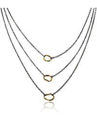 Katarina Cudic Layered Links Necklace - Multicolour