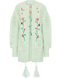 Hayley Menzies Midi Embroidered Cardigan - Green