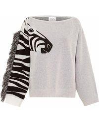 Hayley Menzies Zizzi Zebra Grey