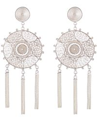 Vanilo - Pandora Silver Earrings - Lyst