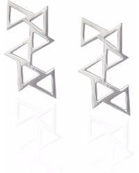 Sally Lane Jewellery - Ladder Of Life Silver Earrings - Lyst