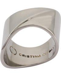 Cristina Cipolli Jewellery Sharch Ring Solid Black