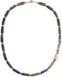 Shinar Jewels 9ct Gold Lapis Lazuli Egyptian Necklace - Multicolour