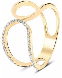 Cosanuova Prater Diamond Ring 18k Yellow Gold - Metallic