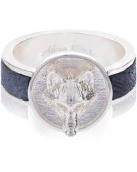 Alexa K - Silver Wolf Ring - Lyst