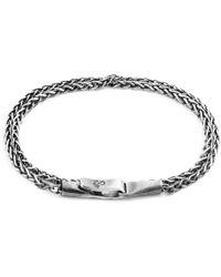 Anchor & Crew Staysail Double Sail Silver Chain Bracelet - Metallic