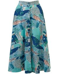 Emily and Fin Sandy Button Le Maroc Skirt - Blue
