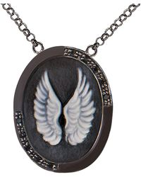 Vintouch Italy - Wings Cameo Necklace - Lyst