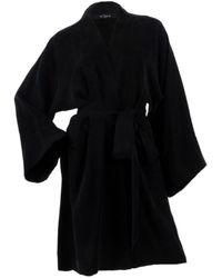 niLuu Noir Mini Kimono Robe - Black