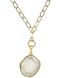 Magpie Rose White Rocks In The Sky Necklace