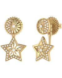 LMJ Lucky Star Stud Earrings In 14 Kt Yellow Gold Vermeil On Sterling Silver - Metallic