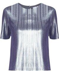 Paisie - Silver Metallic Top - Lyst