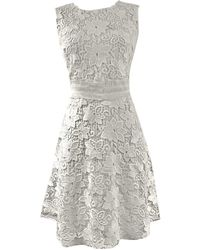 LEFON New York Lace Fit-and-flare Dress - White