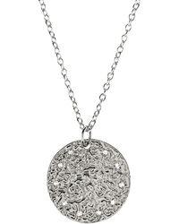 LÁTELITA London - Cosmic Full Moon Necklace Silver - Lyst