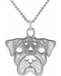 CarterGore - Silver Boxer Pendant Necklace Medium - Lyst