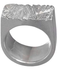 Edge Only Rugged Ring Silver - Metallic