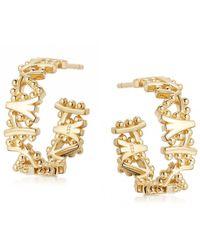 Astley Clarke Solstice Hoop Earrings - Metallic