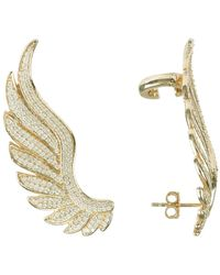 LÁTELITA London Gabriel Angel Wing Ear Climber Gold - Metallic