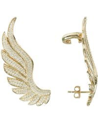 LÁTELITA London - Gabriel Angel Wing Ear Climber Gold - Lyst