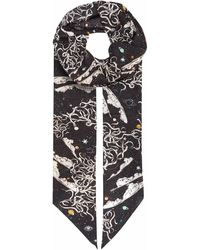 Klements Razor Scarf Tear Garden Print - Black