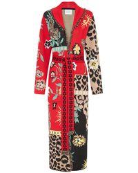 Hayley Menzies Enchanted Leopard Black Red Long Cardigan